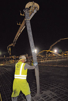 Pumped Mat Slabs Replace Multiple Piers For Fast Track Solar Panel Plant